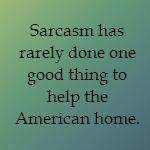 sarcastic husband
