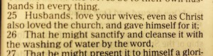 ephesians 5:25 - Husbands love your wives