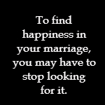 finding happiness in marriage