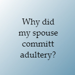 why did my spouse have an affair