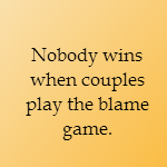 stop playing the blame game